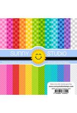 Sunny Studio Classic Gingham Paper 6x6