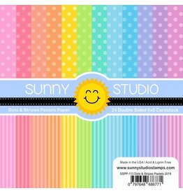 Sunny Studio Dots & Stripes Pastels 6x6 paper