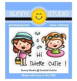 Sunny Studio Coastal Cuties - Clear Stamp Set