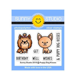 Sunny Studio Puppy Dog Kisses - Clear Stamp Set