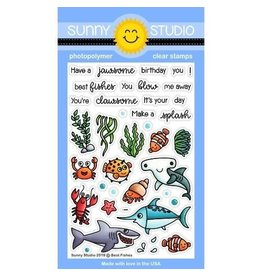 Sunny Studio Best Fishes - Clear Stamp Set (SS)