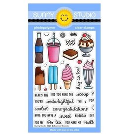 Sunny Studio Summer Sweets - Clear Stamp Set