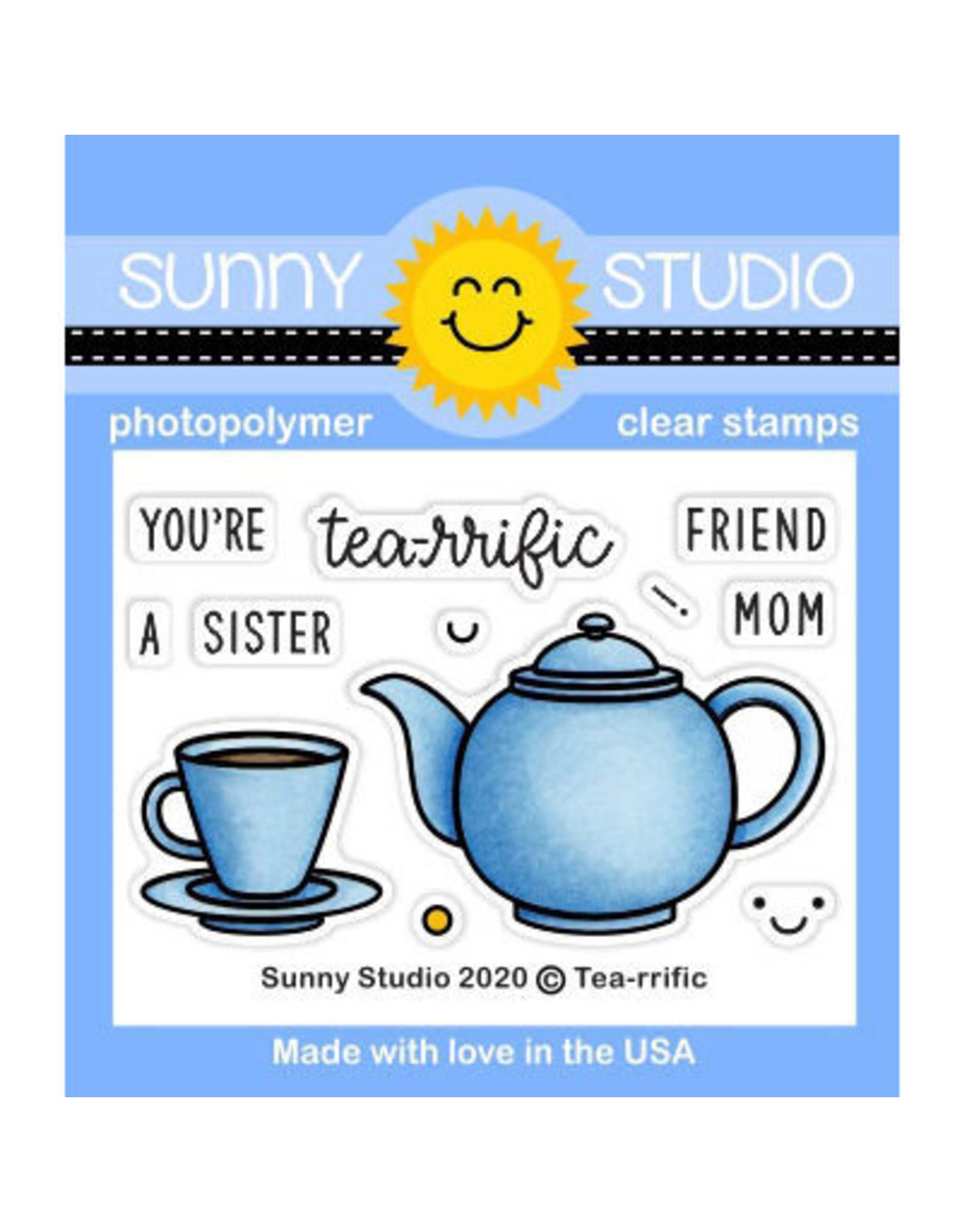 Sunny Studio Tea-riffic - Clear Stamp Set