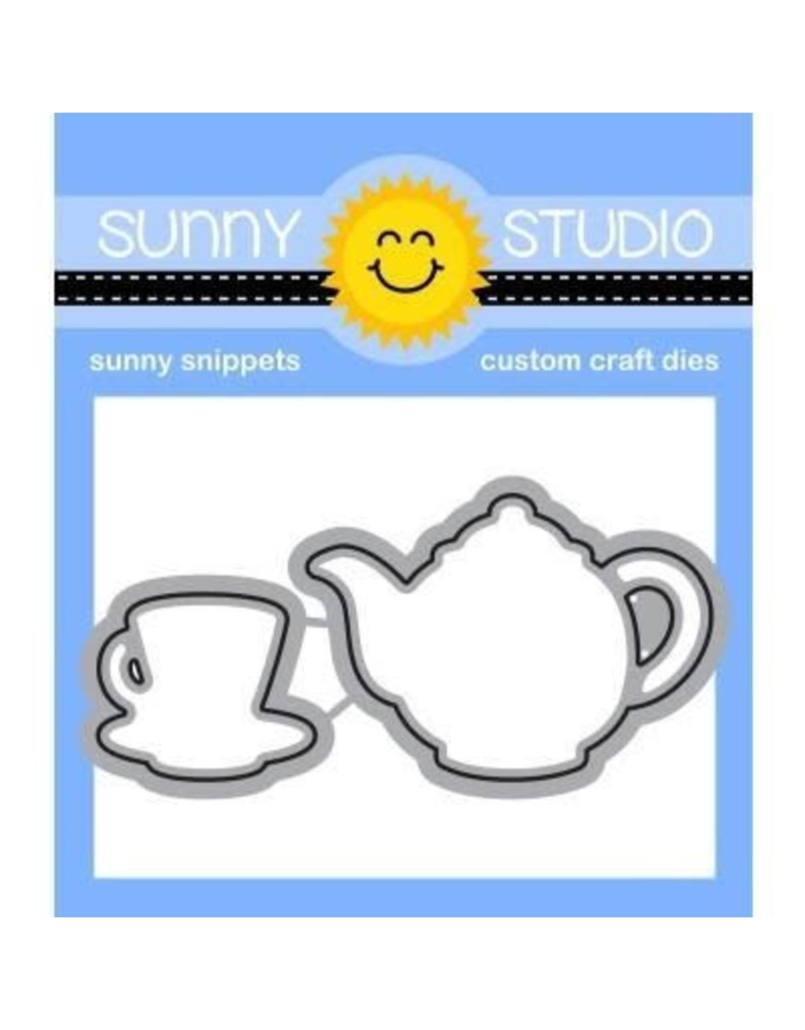Sunny Studio Tea-riffic - Die Set