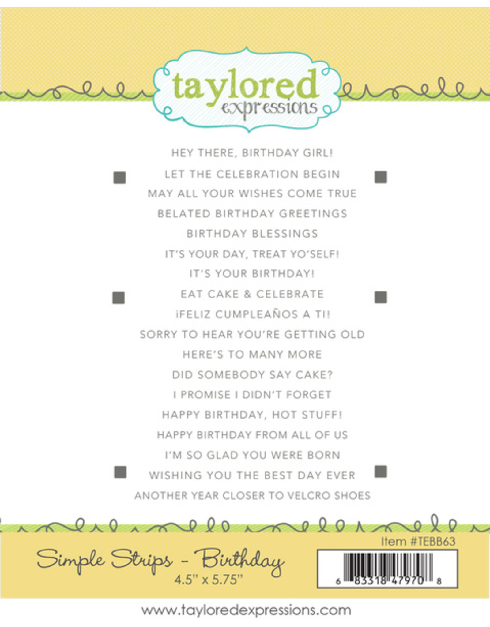Taylored Expressions Simple Strips Well Rounded - Die Set