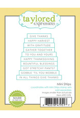 Taylored Expressions Mini Strips (LIFE SAVER) - Cling Stamp Set
