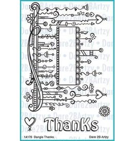 Dare 2B Artzy Dangle Thanks - Clear Stamp Set