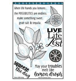 Dare 2B Artzy Lemon Zest - Clear Stamp Set