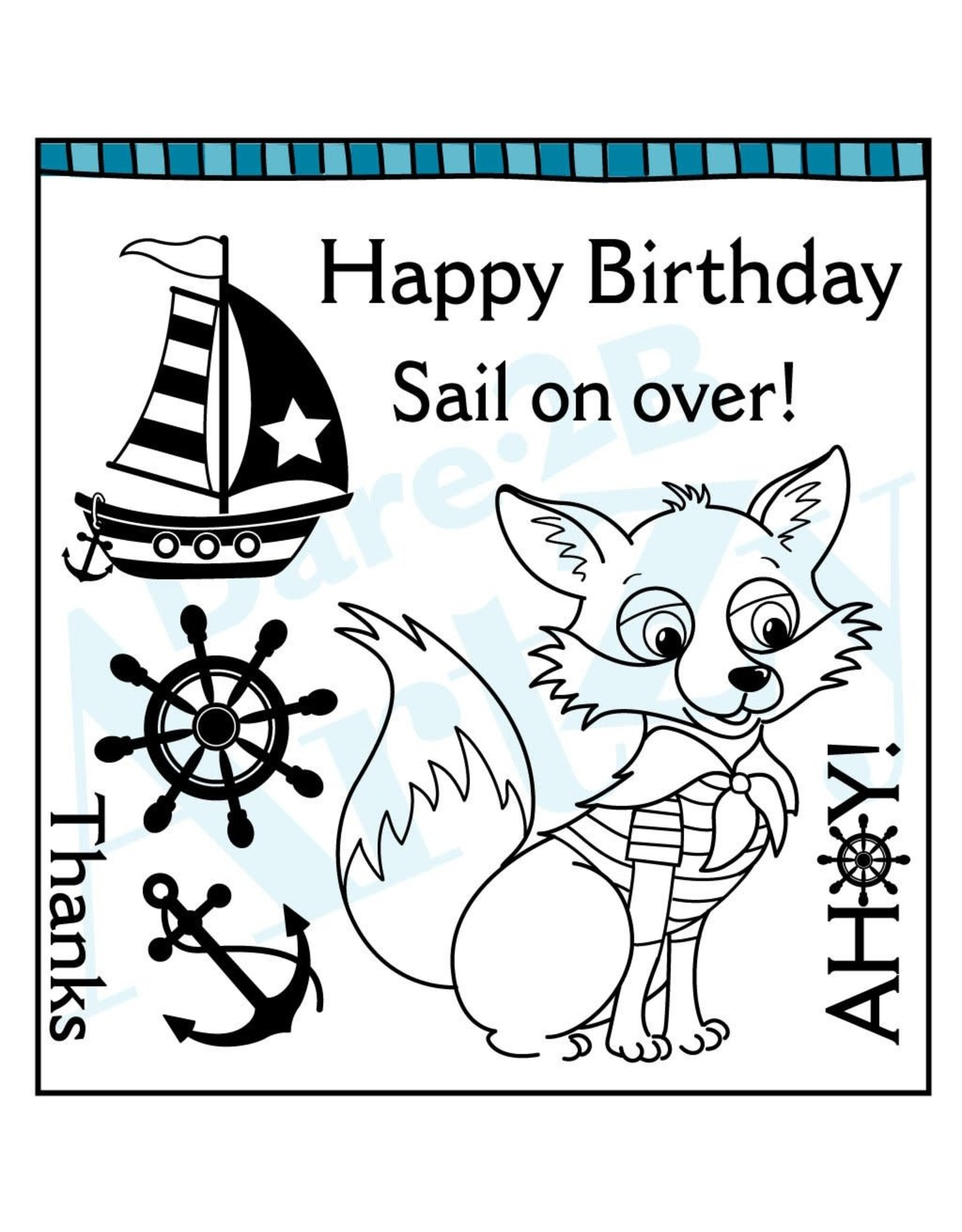 Dare 2B Artzy Ahoy Mate Fox - Clear Stamp Set