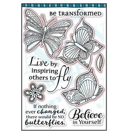 Dare 2B Artzy Butterfly Inspiration - Clear Stamp Set
