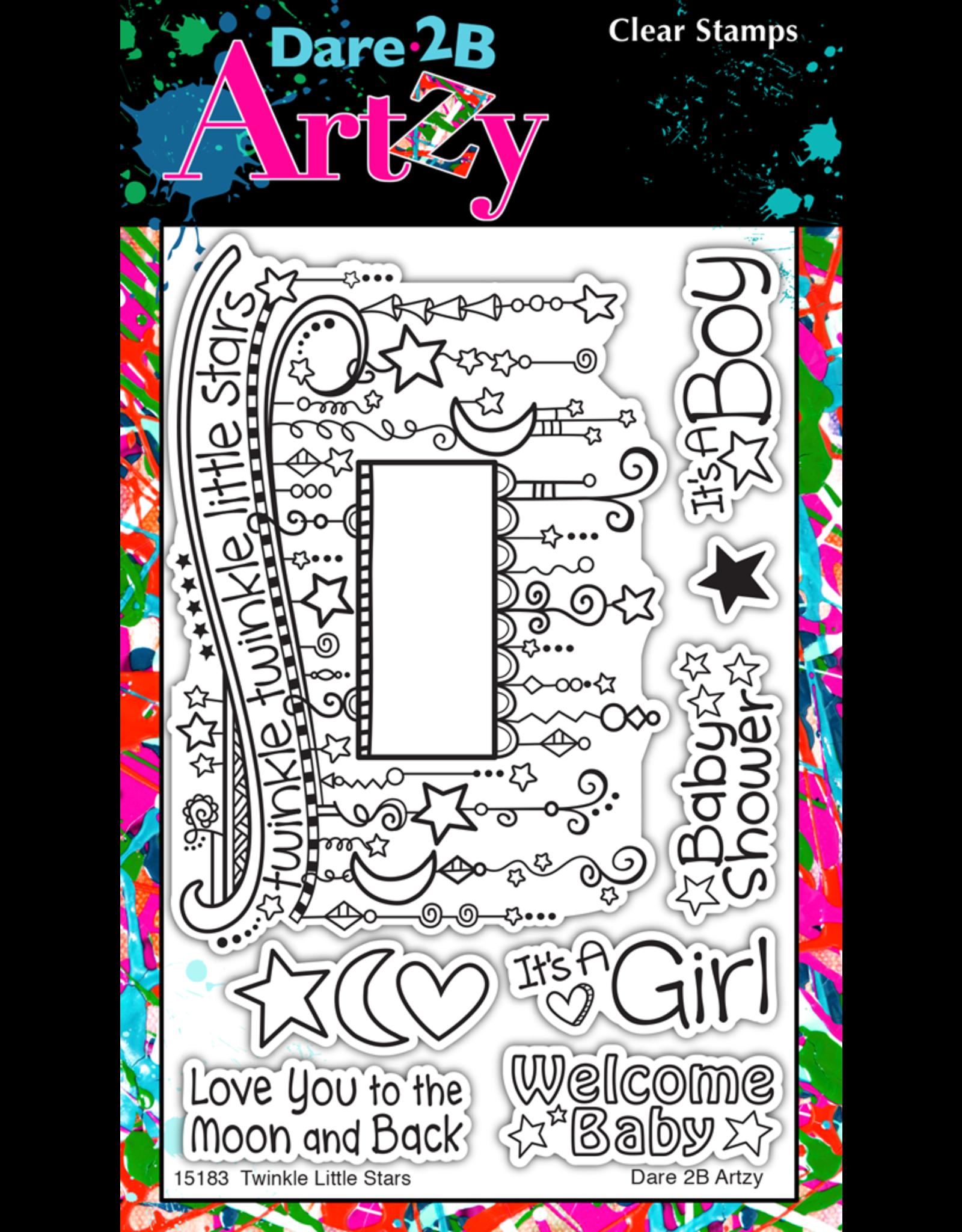 Dare 2B Artzy Twinkle Lil Star - Clear Stamp Set