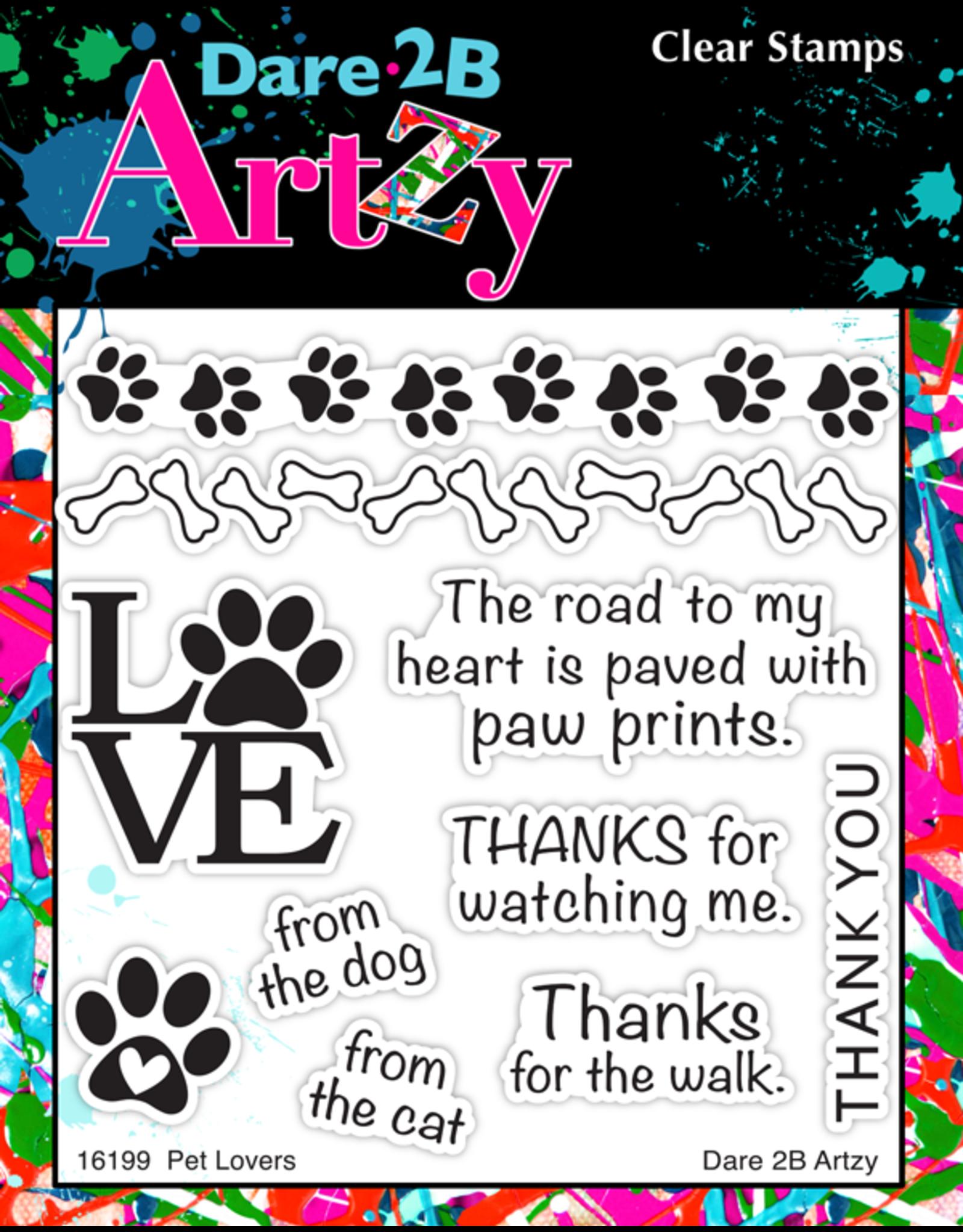 Dare 2B Artzy Puppy Talk - Clear Stamp Set