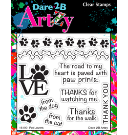 Dare 2B Artzy Pet Lovers - Clear Stamp Set