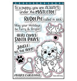 Dare 2B Artzy Puppy Kisses - Clear Stamp Set