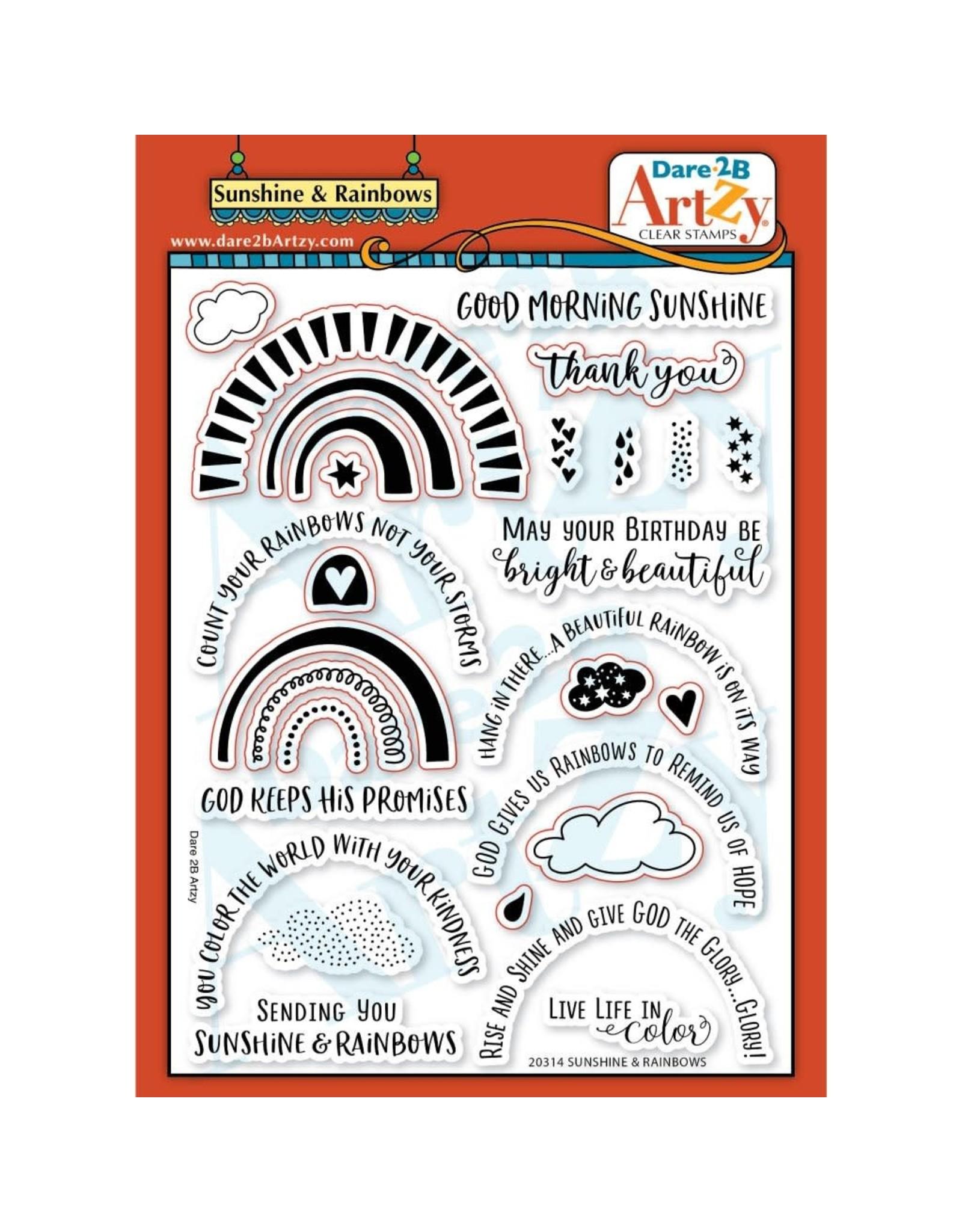 Dare 2B Artzy Sunshine & Rainbows - Clear Stamp Set