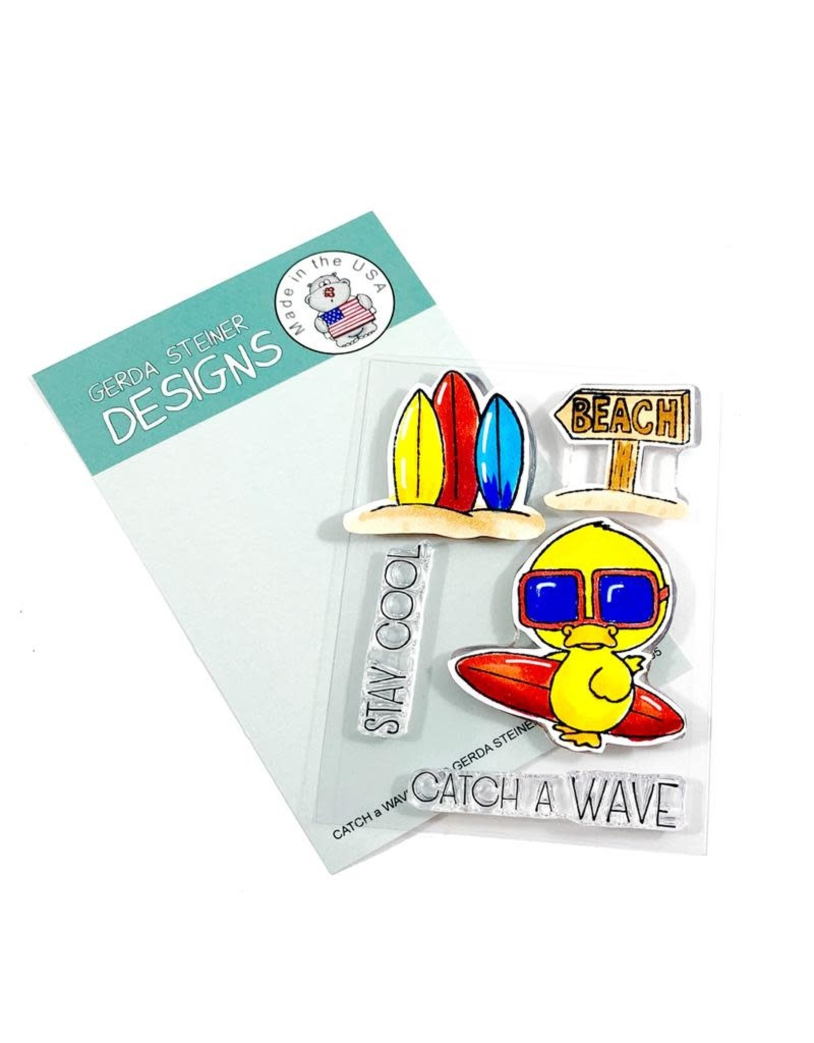 Gerda Steiner Designs Catch a Wave Clear Stamp Set