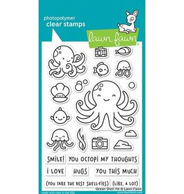 Lawn Fawn Ocean Shell-fie Clear Stamp Set