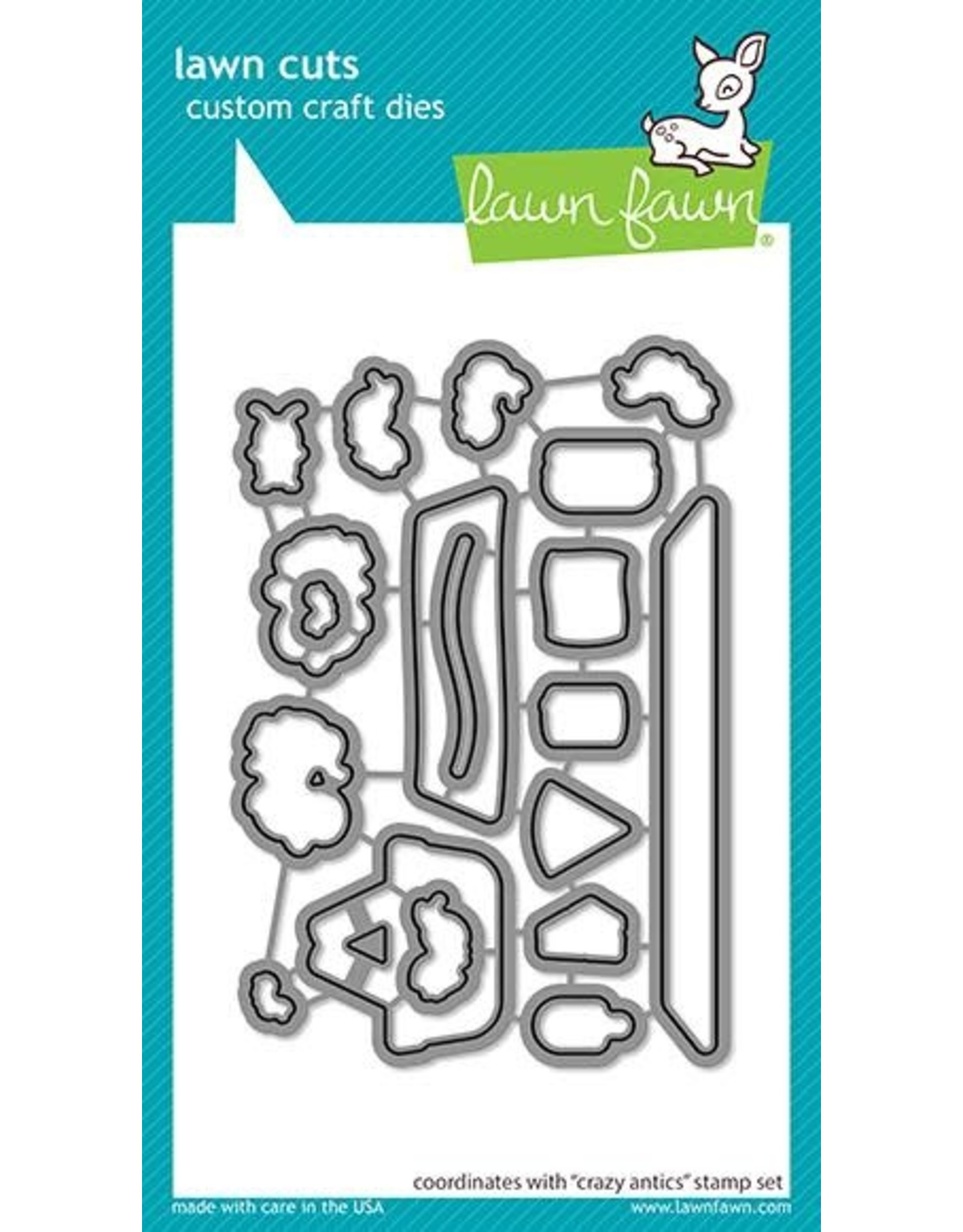 Lawn Fawn Crazy Antics Clear Stamp Set