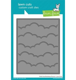 Lawn Fawn Puffy Cloud Backdrop Portrait Lawn Cuts Die