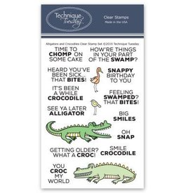 Technique Tuesday Alligators & Crocodiles - Clear Stamp Set
