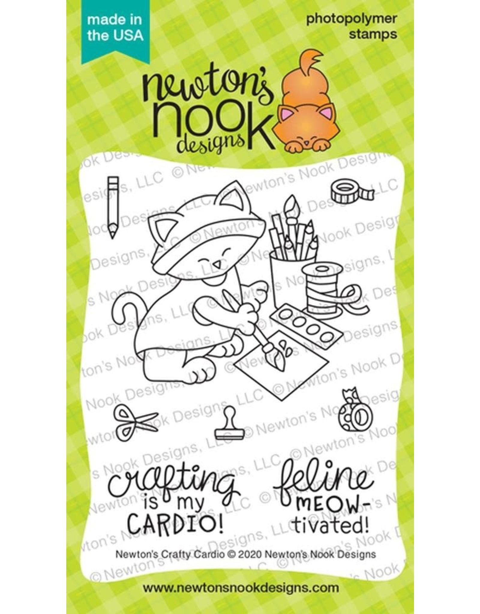 Newton's Nook Newton's Crafty Cardio Clear Stamp Set