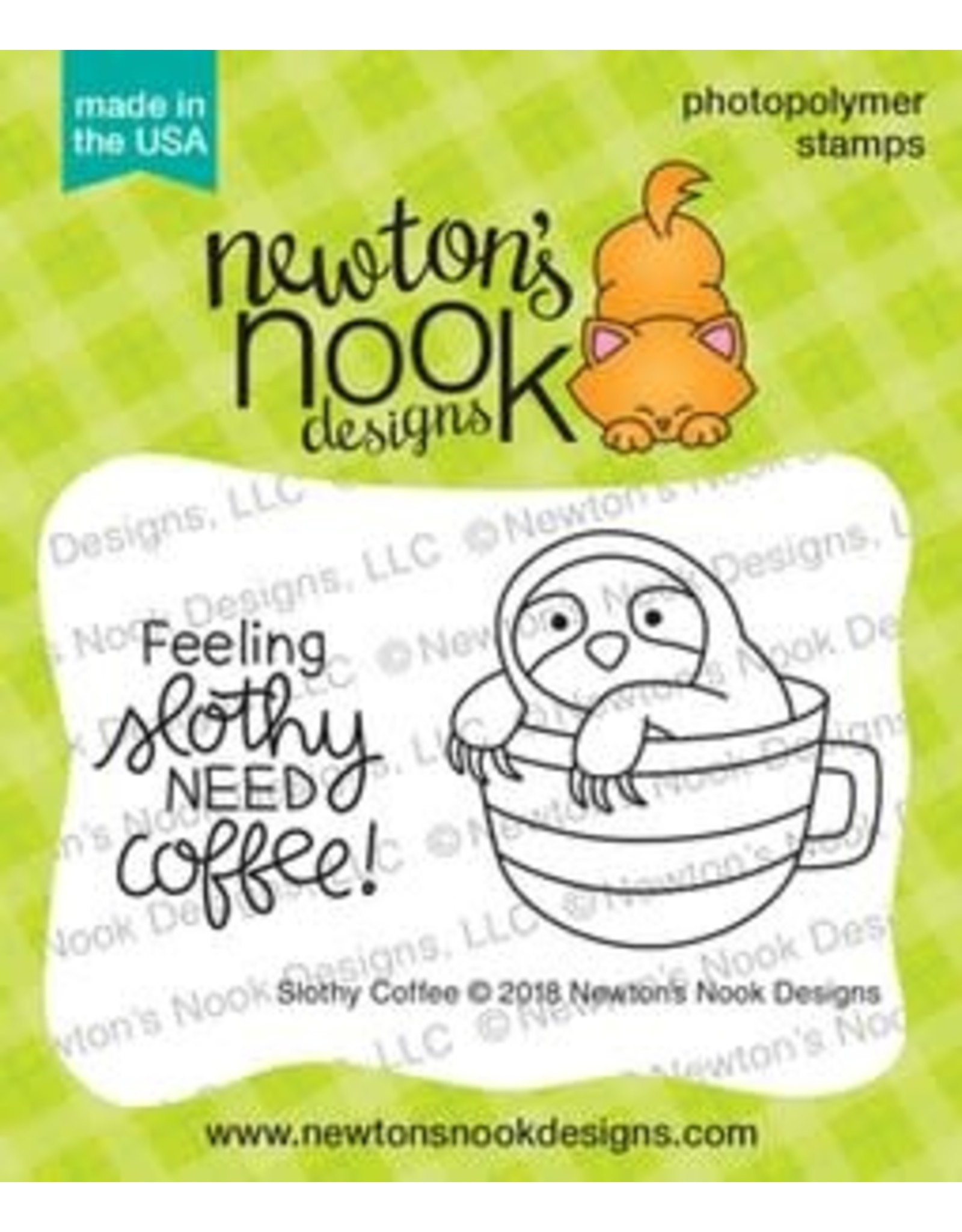 Newton's Nook Slothy Coffee Clear Stamp Set