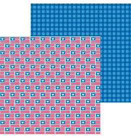 Doodlebug Design Inc. Land That I Love - Red, White & Blue 12x12