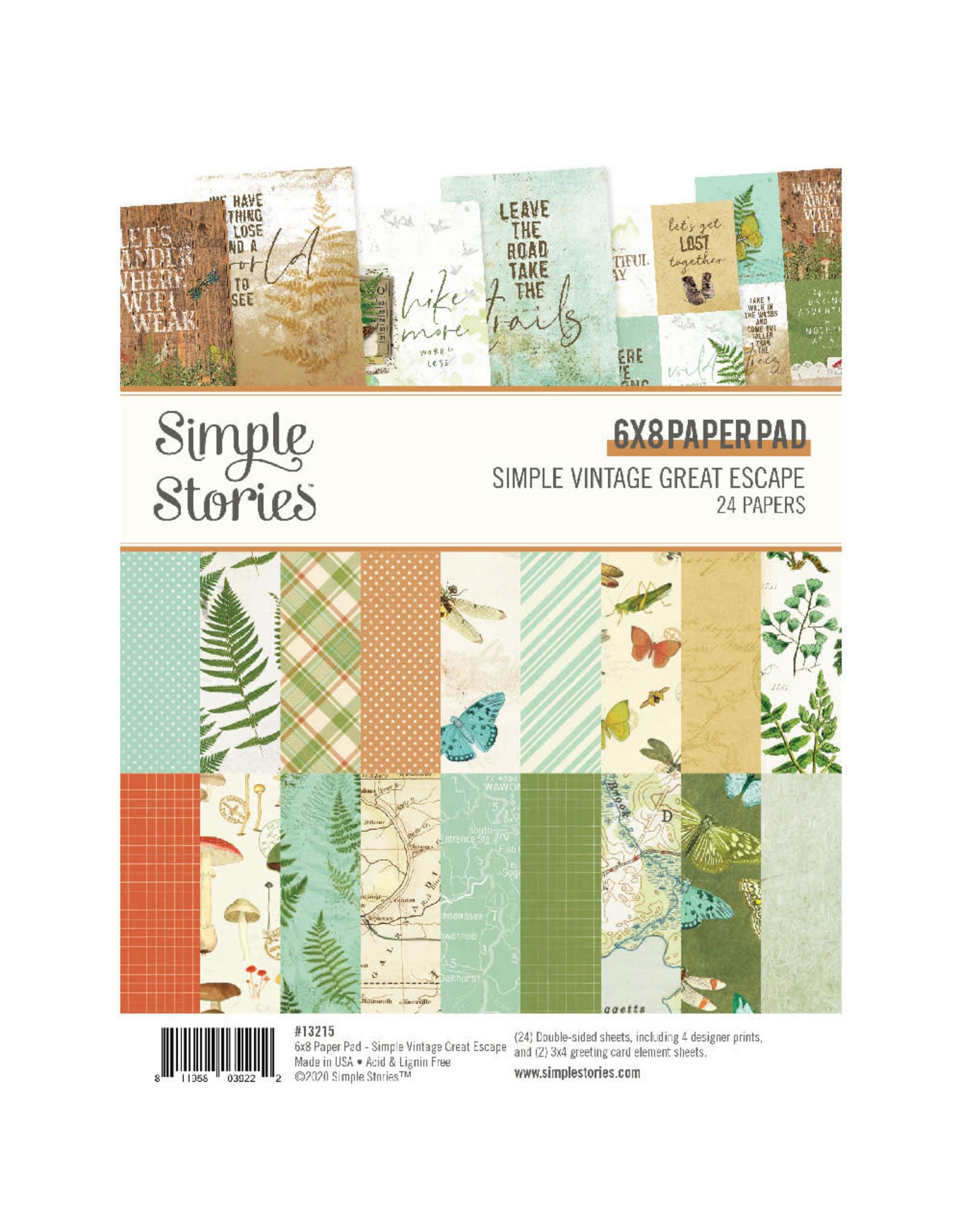 Simple Stories Simply Vintage Great Escape 6x8 Paper Pad