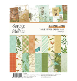 Simple Stories Simply Vintage Great Escape 6x8 Paper Pad
