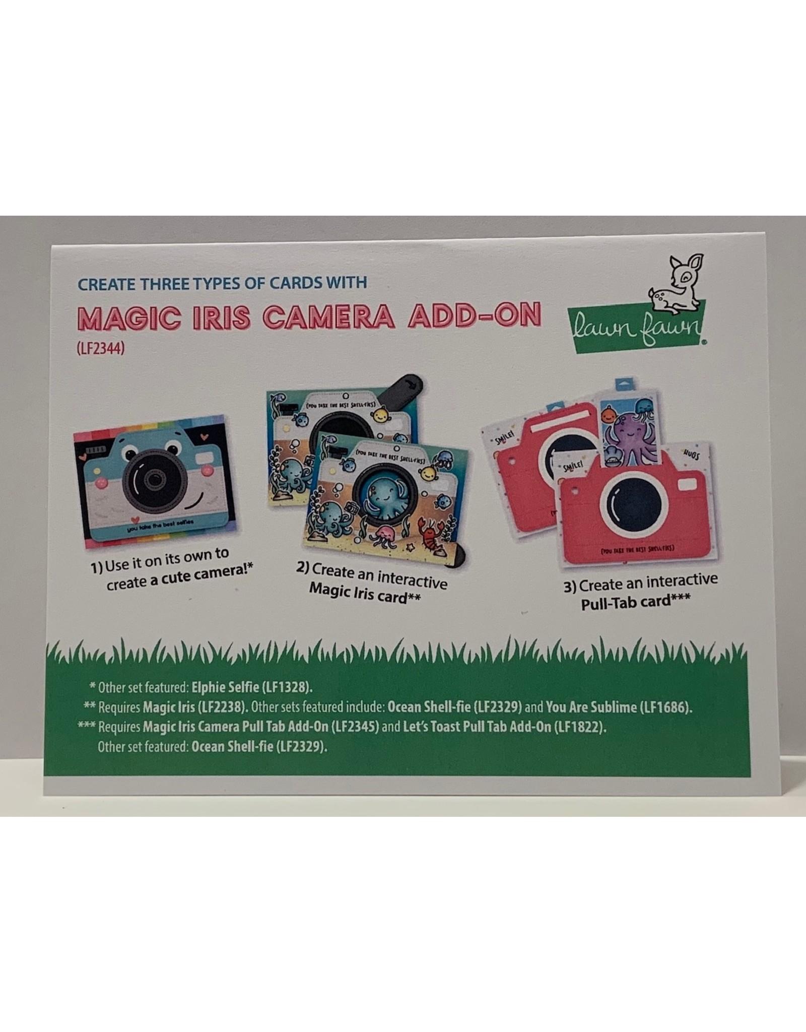 Lawn Fawn Magic Iris Camera Pull Tab Add-On Dies