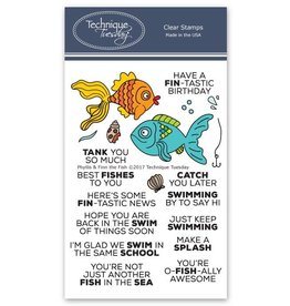 Technique Tuesday Phyllis & Finn the Fish Clear Stamp Set