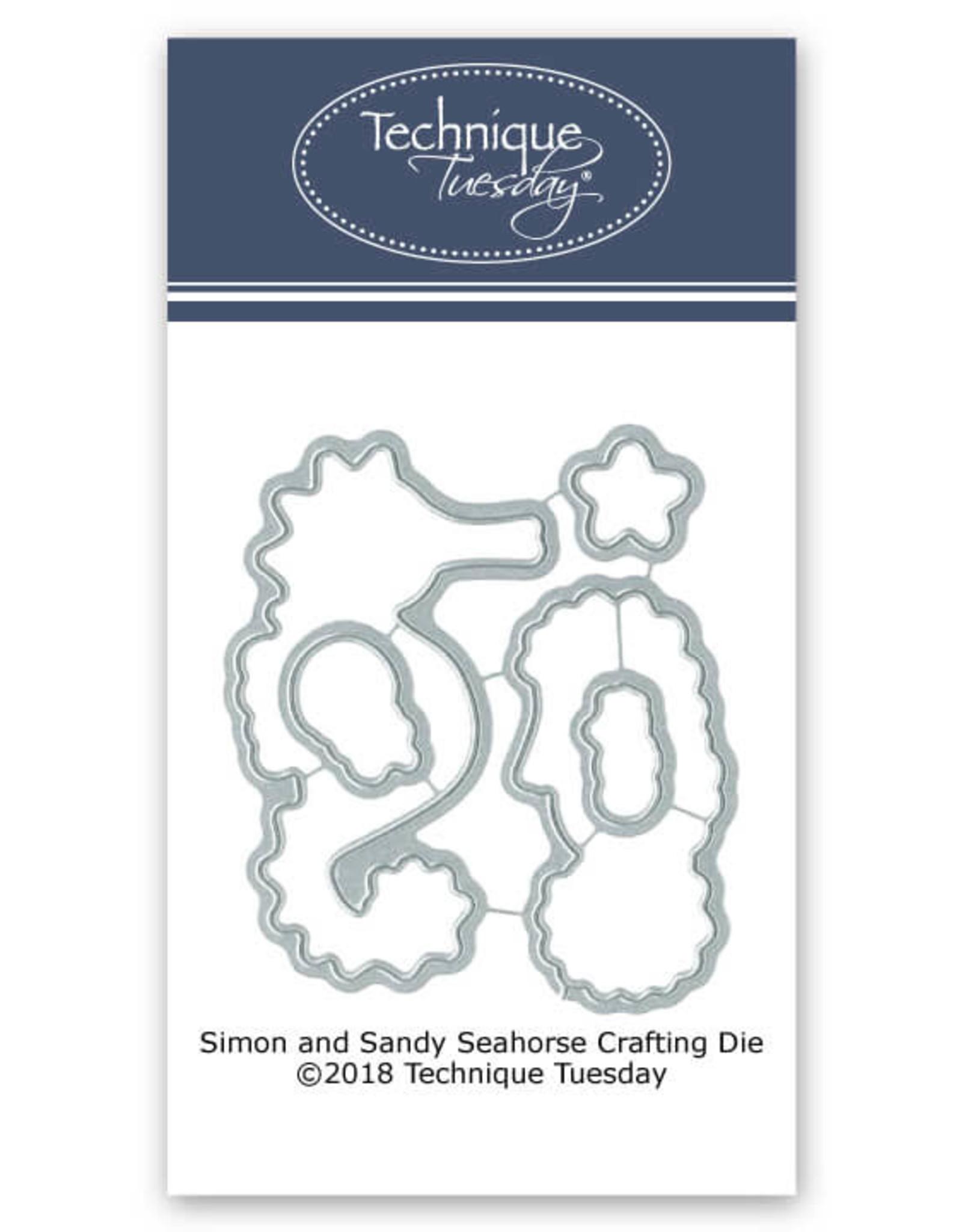 Technique Tuesday Simon & Sandy Seahorse Clear Stamp Set