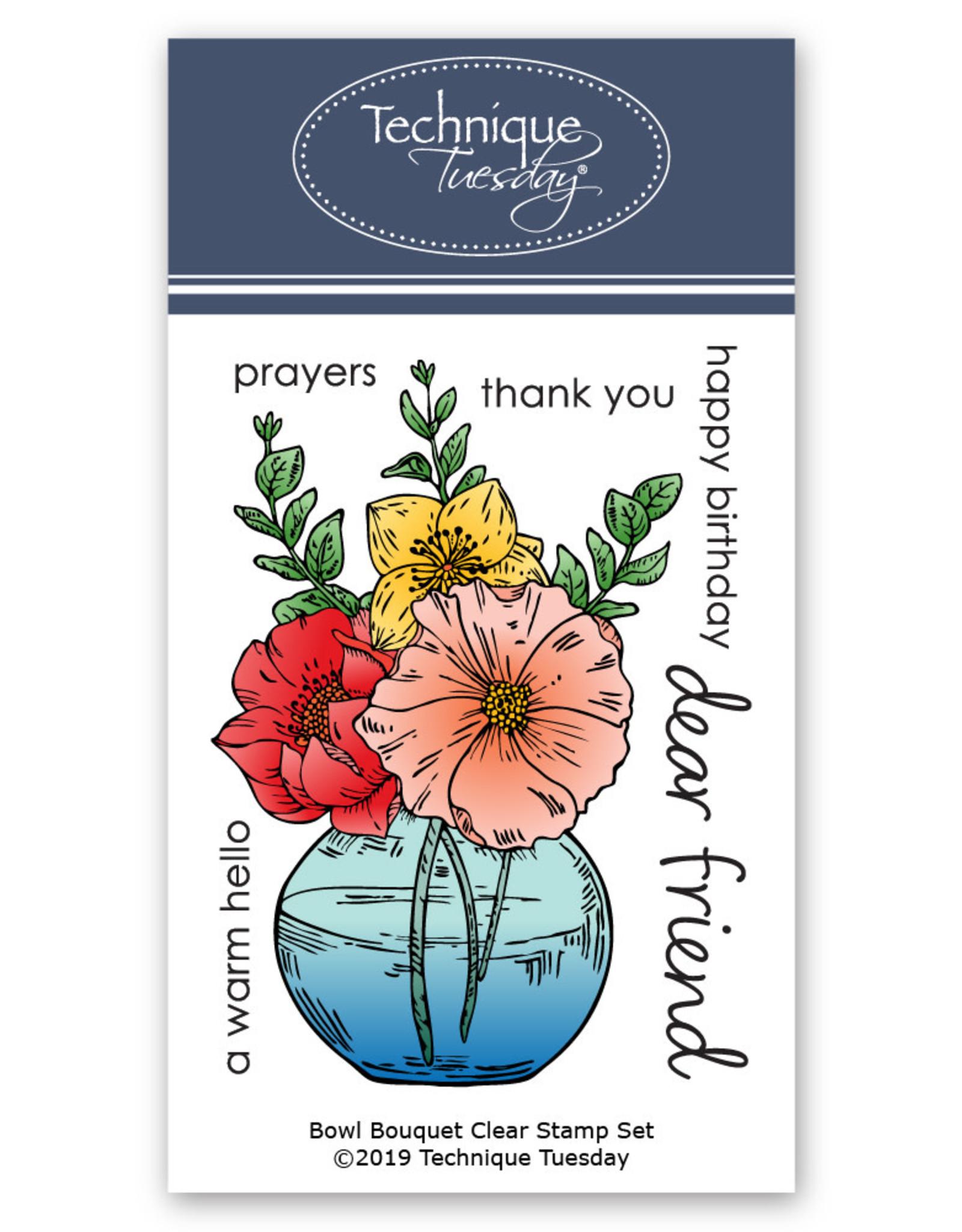 Technique Tuesday Bowl Bouquet (GS) Clear Stamp Set