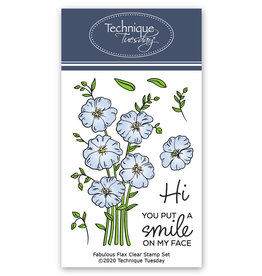 Technique Tuesday Fabulous Flax (GS) Clear Stamp Set