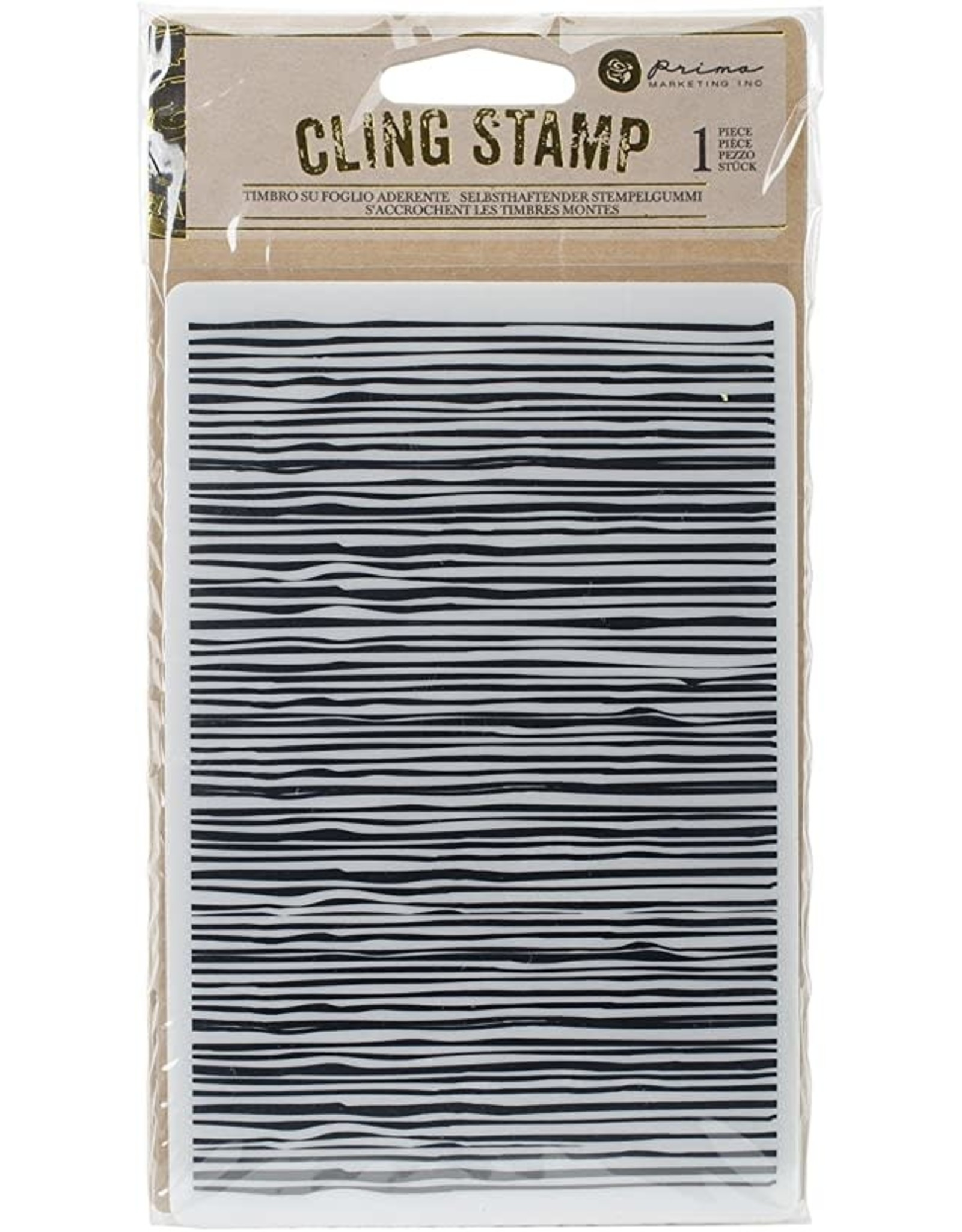 Prima Marketing Inc. Cling Stamp 4-Wood Lines (30%)