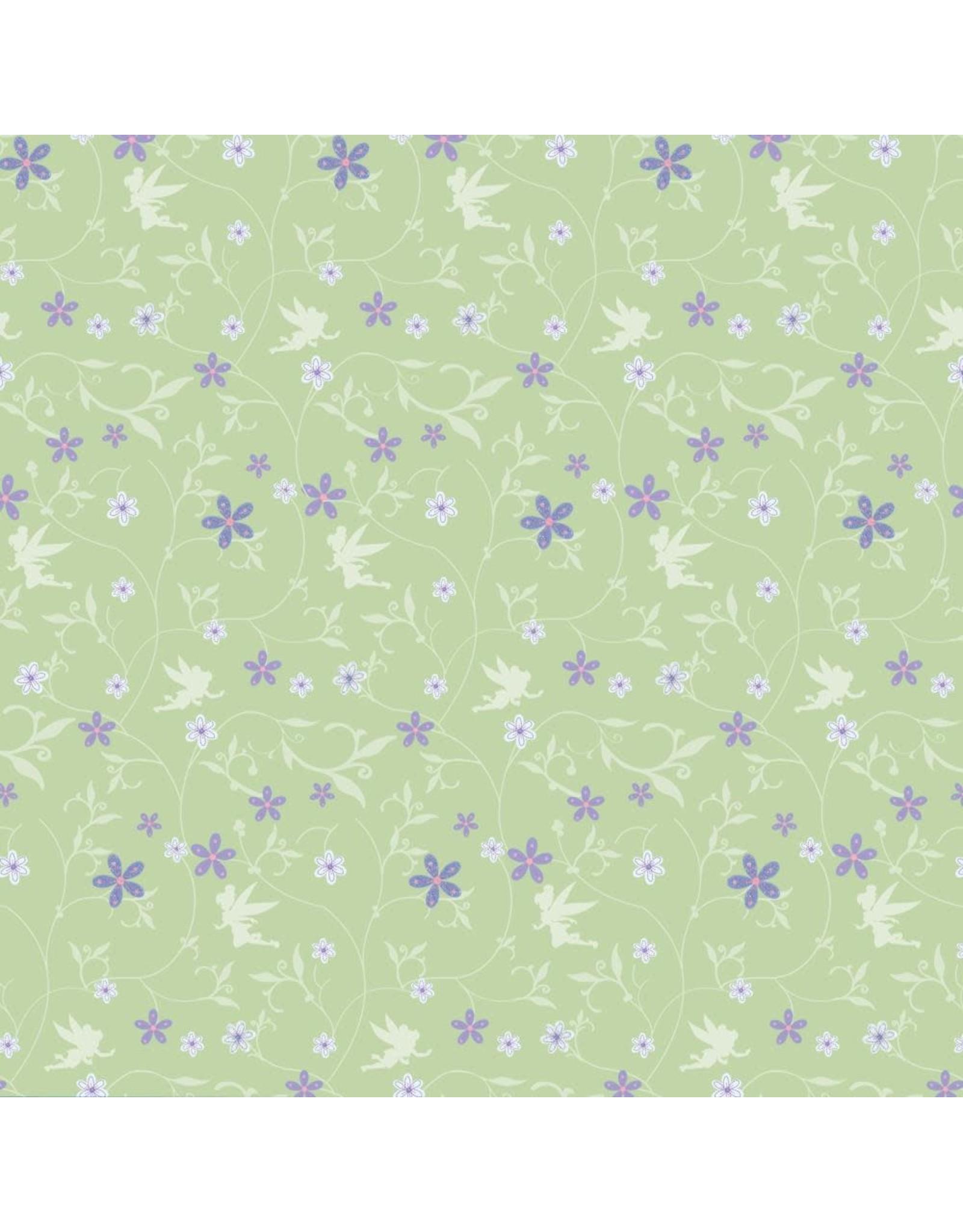 Disney Tinkerbell Flower Glitter 12x12