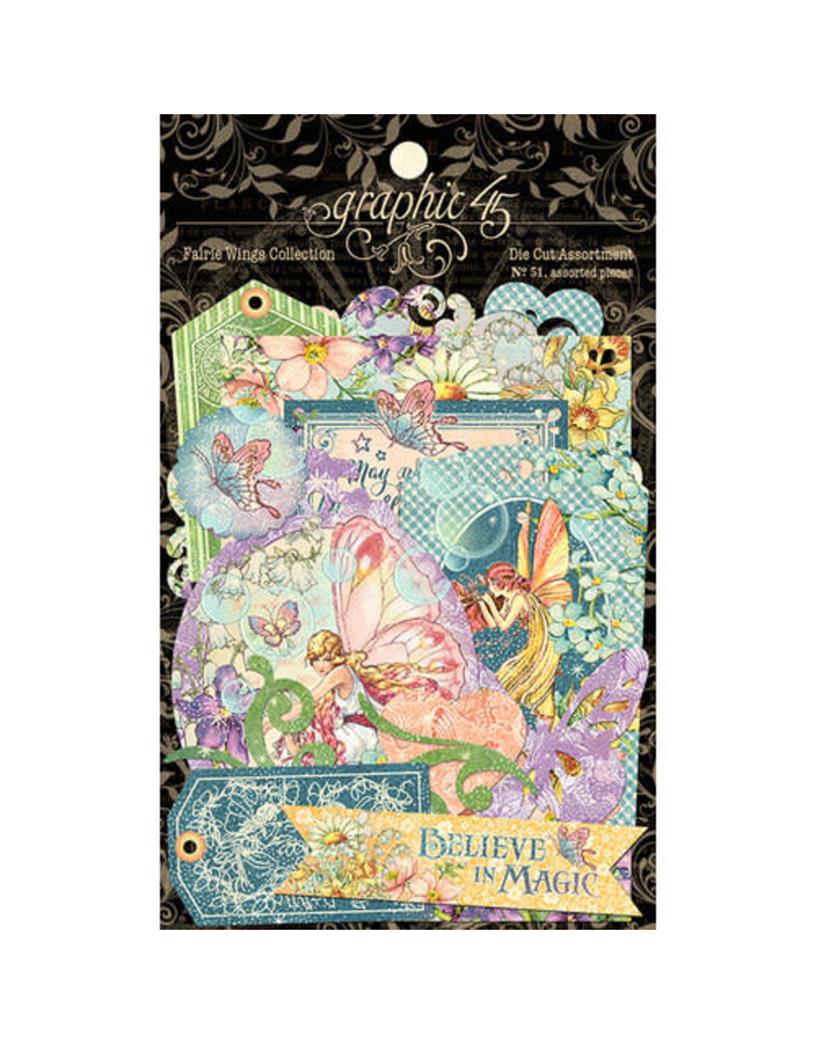 Graphic 45 Fairie Wings Collection - Tiny Blossoms 12x12