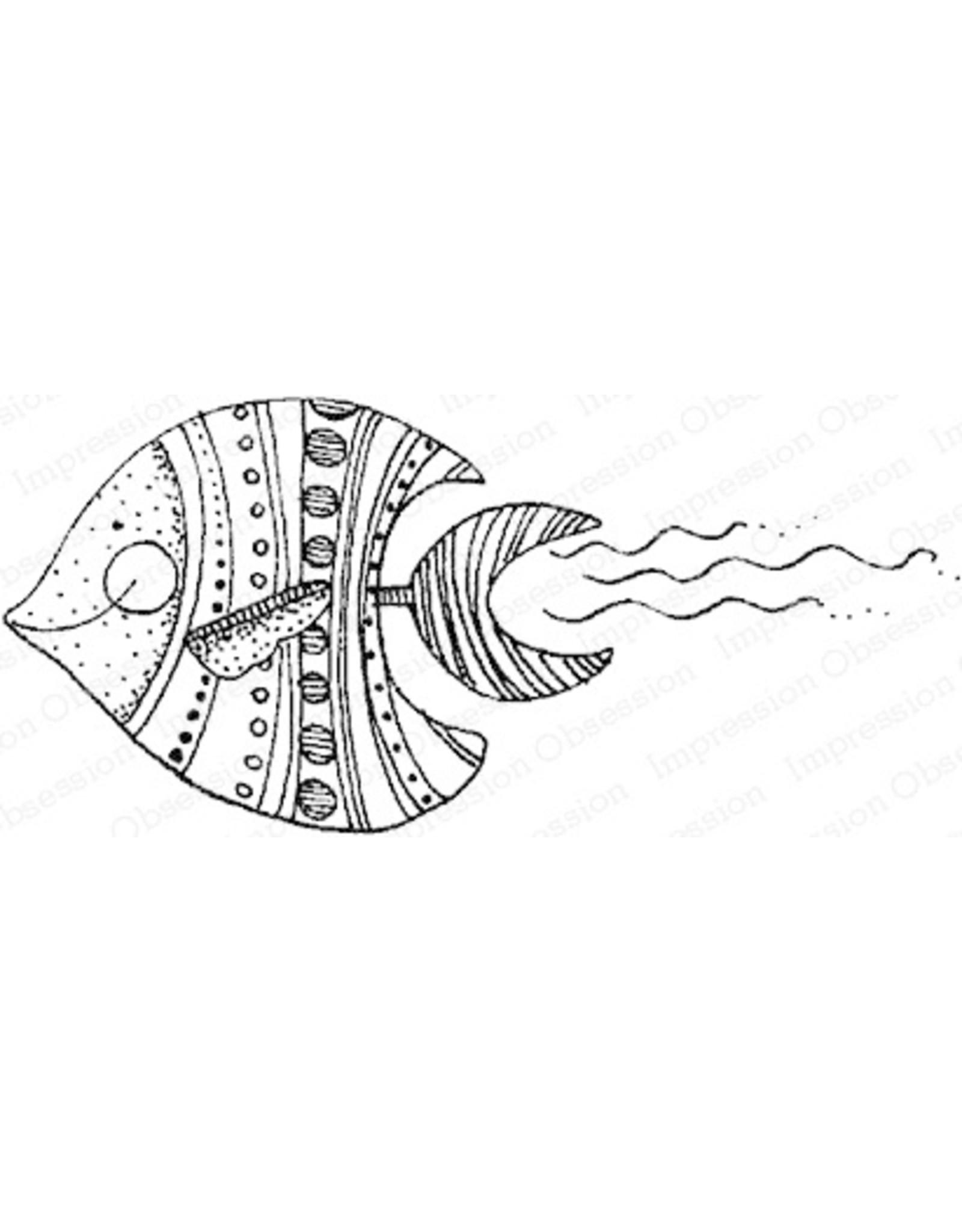 Impression Obsession Angel Fish Cling Stamp