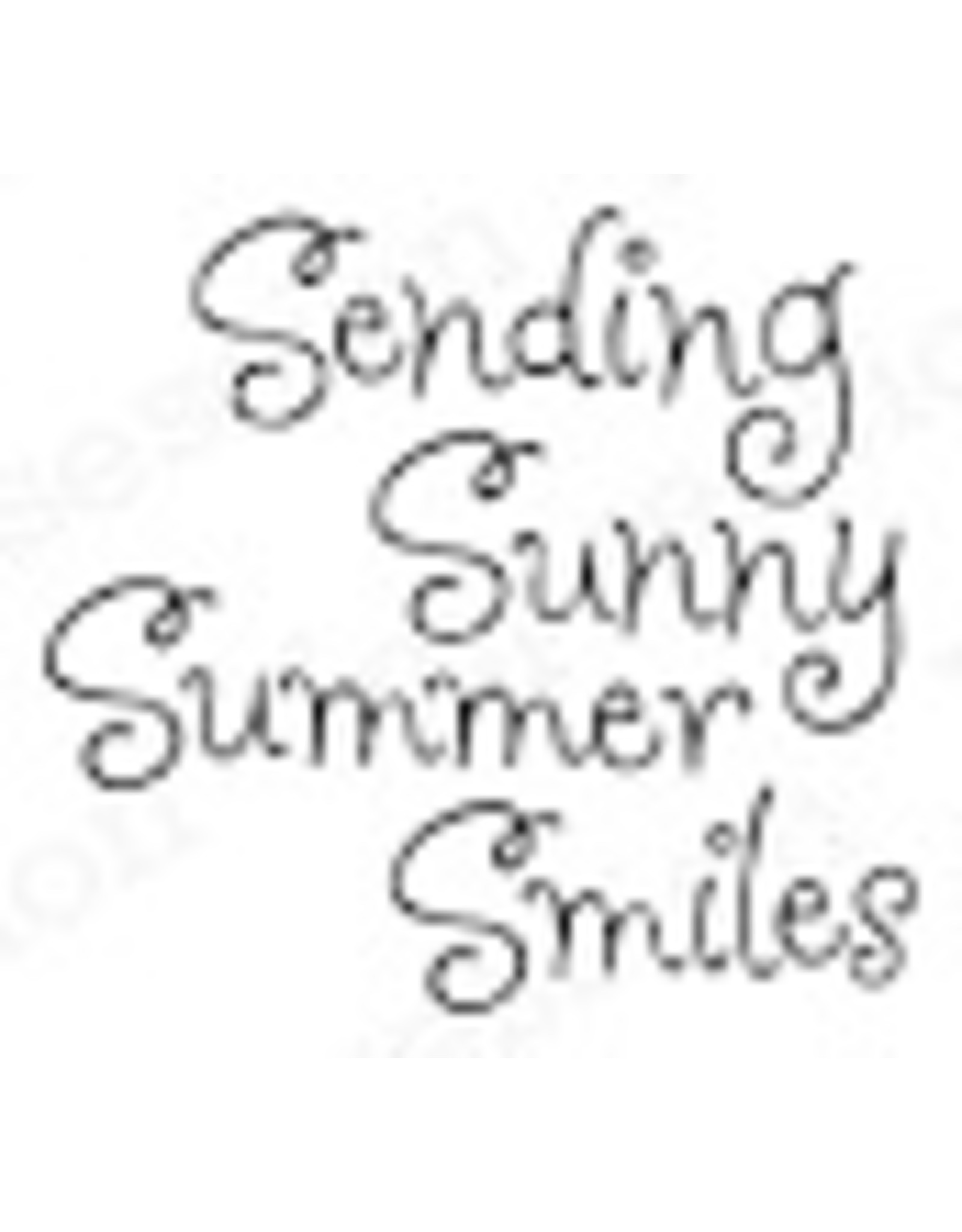 Impression Obsession Sunny Smiles Cling Stamp
