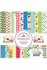 Doodlebug Design Inc. Bar-B-Cute 6x6 Paper Pad