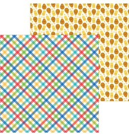 Doodlebug Design Inc. Bar-B-Cute Collection - Primary Plaid 12x12