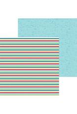 Doodlebug Design Inc. Bar-B-Cute Collection - Sno Cone Stripe 12x12