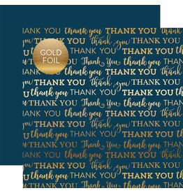Carta Bella Paper Company, LLC Thank You Navy Foil 12x12