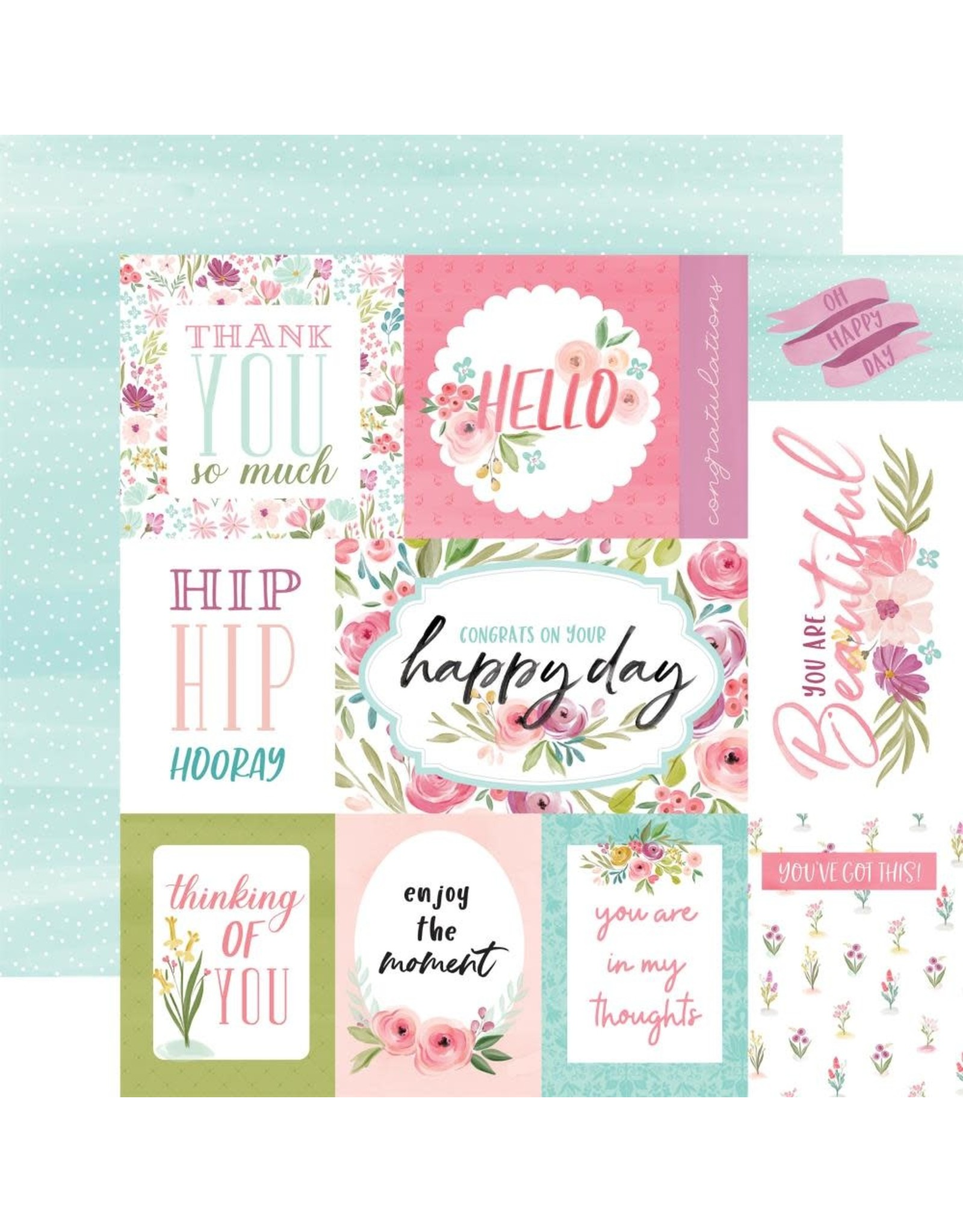 Carta Bella Paper Company, LLC Flora No. 3 Collection - Bright Journaling Cards 12x12