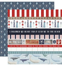 Carta Bella Paper Company, LLC By the Sea Collection - Border Strips 12x12