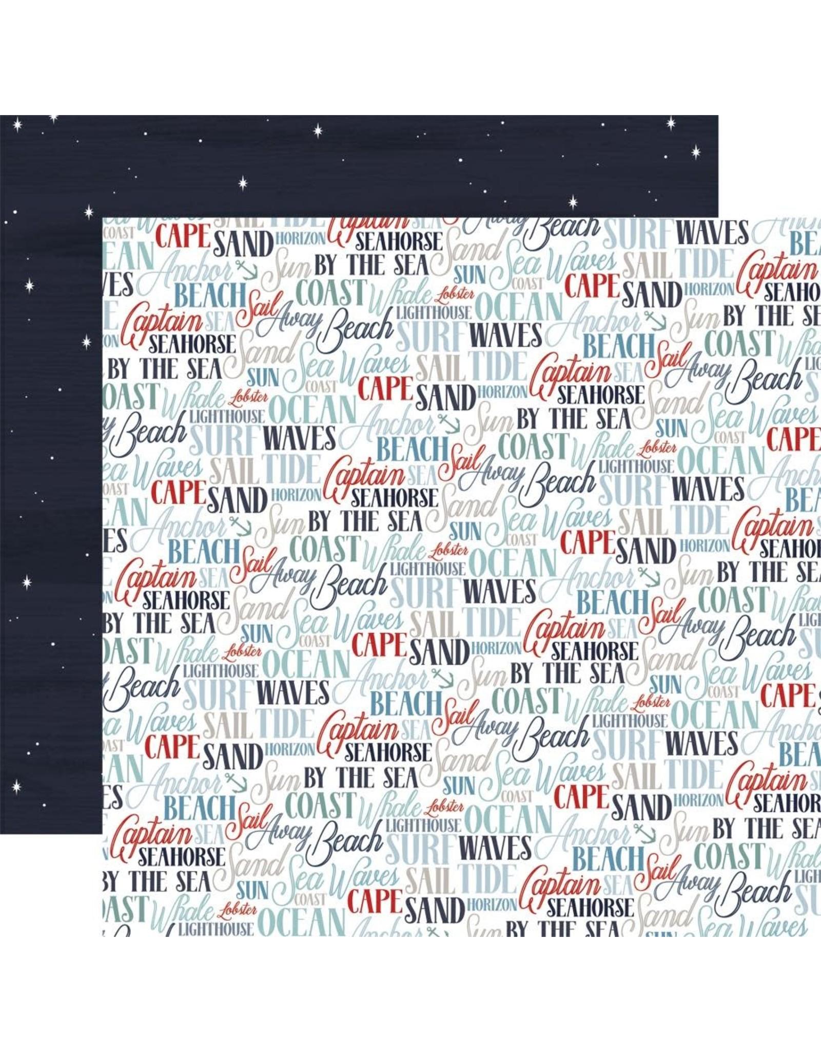 Carta Bella Paper Company, LLC By the Sea Collection - Coastal Words 12x12
