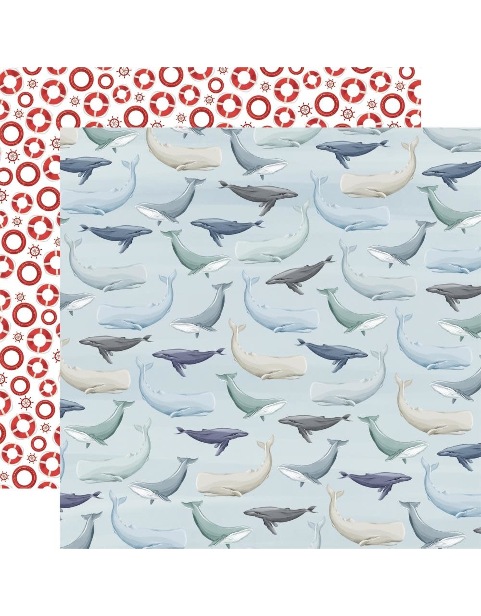 Carta Bella Paper Company, LLC By the Sea Collection - Whales