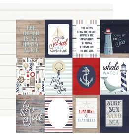 Carta Bella Paper Company, LLC By the Sea Collection - 3x4 Journaling Cards 12x12