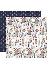 Carta Bella Paper Company, LLC By the Sea Collection - Set Sail 12x12
