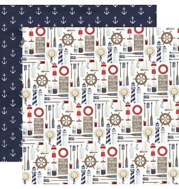 Carta Bella Paper Company, LLC By the Sea Collection - Set Sail 12x12